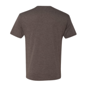 Men's Tri Blend Crew Macchiato Back