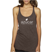 Tri Blend Racerback Tank Macchiato Person